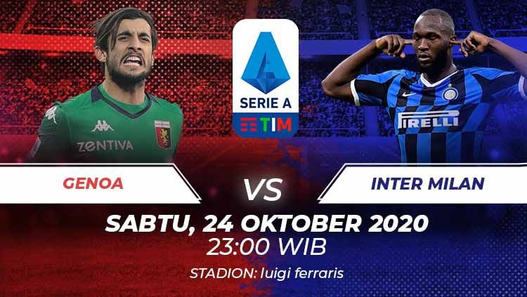 Link Live Streaming Genoa vs Inter, 24 Oktober 2020 ...